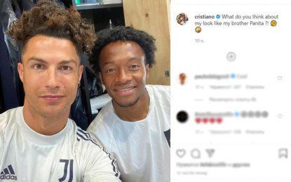 Над причёской Роналду посмеялись подписчики в Instagram